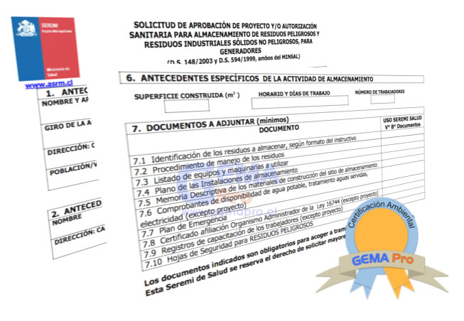 Documento Certificación Ambiental con sello
