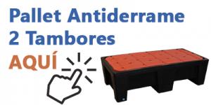 Pallet Antiderrame 2 TAMBORES Gemapro