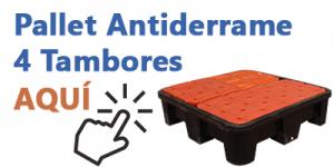 Pallet Antiderrame 4 TAMBORES Gemapro