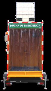 DUCHA DE EMERGENCIA LAVAOJOS CON CABINA Y CARRO GEMAPRO