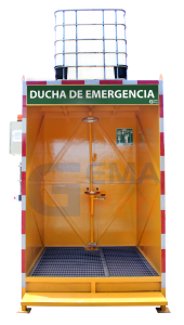 ducha de emergencia con cabina