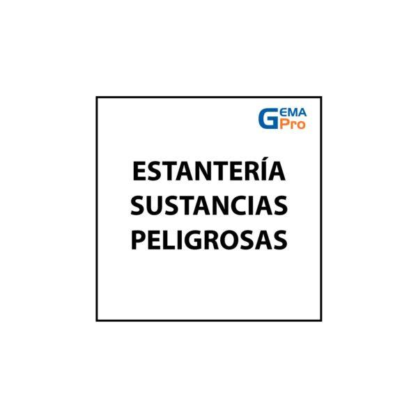 SEÑALÉTICA ESTANTERÍA SUSTANCIAS PELIGROSAS