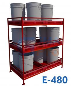 Estantería Sustancias Peligrosas E480 (24 tinetas) Gemapro