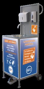 Lavamanos portátil Gemapro Desinfección manos previene covid19