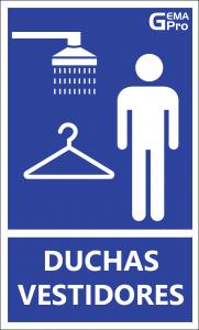 señaletica ducha vestidores
