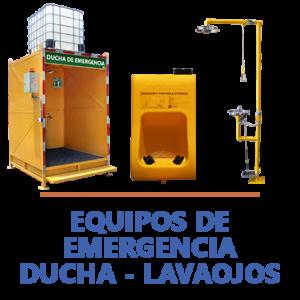 equipos de emergencia duchas lavaojos