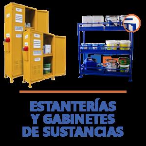 estanterías y gabinetes de sustancias peligrosas