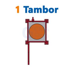 bodega de residuos y sustancias peligrosas Gemapro 1 tambor
