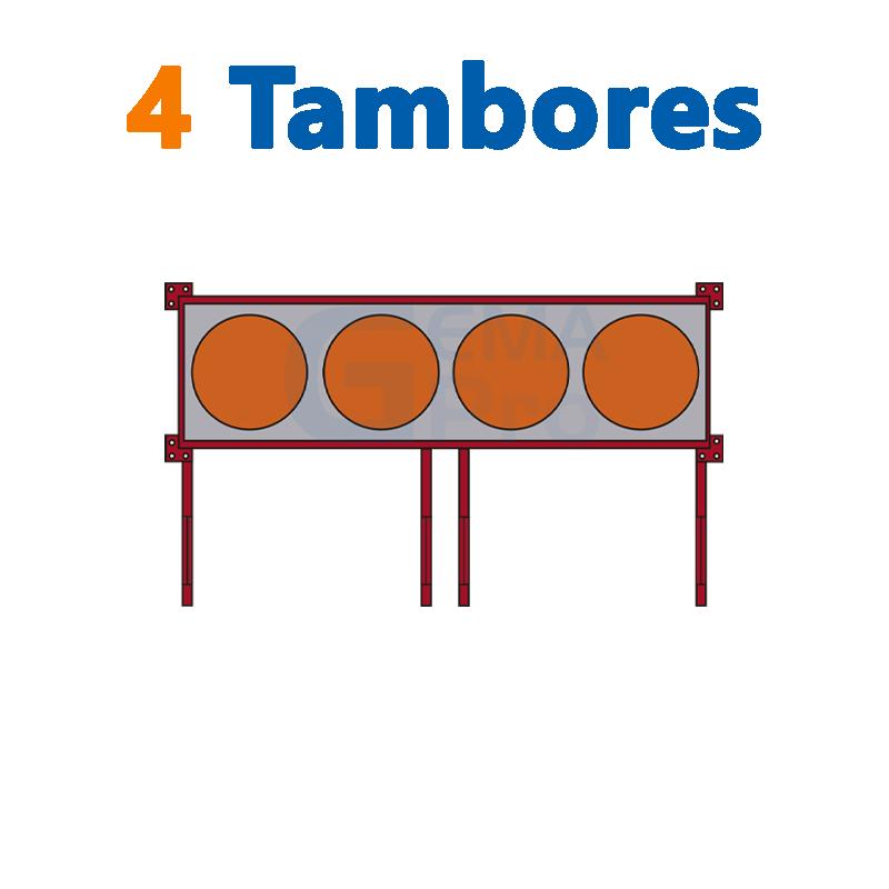 4 TAMBORES LINEALES