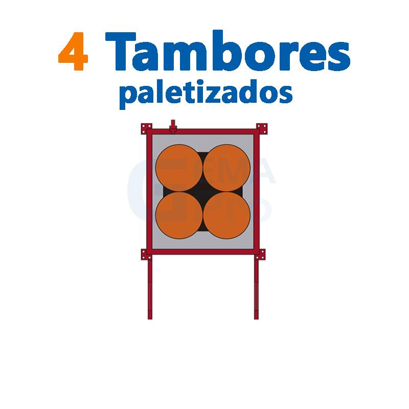 4 TAMBORES PALETIZADOS