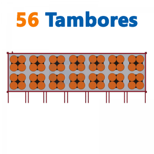 bodega de residuos y sustancias peligrosas Gemapro 56 tambores
