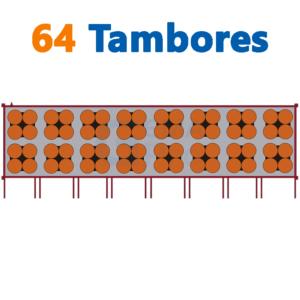 bodega de residuos y sustancias peligrosas Gemapro 64 tambores