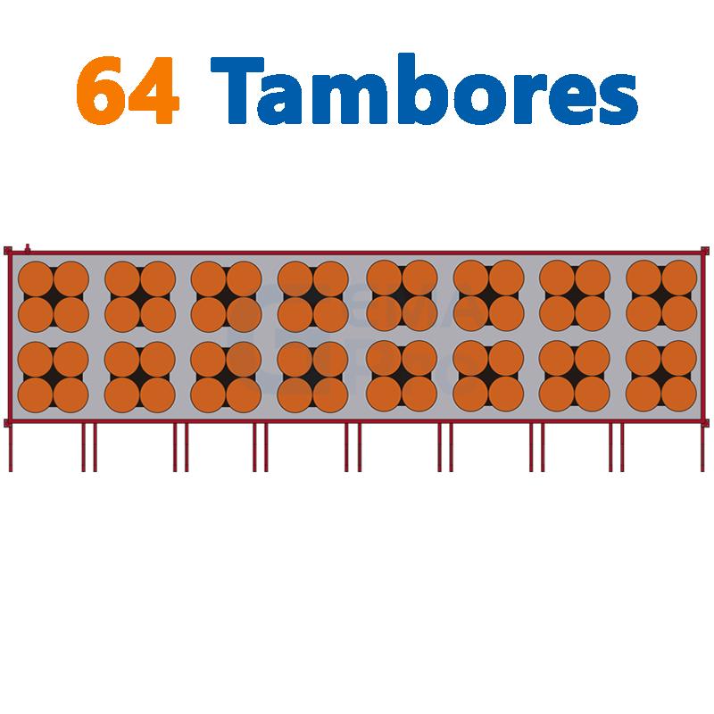 64 TAMBORES