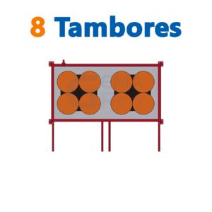 bodega de residuos y sustancias peligrosas Gemapro 8 tambores
