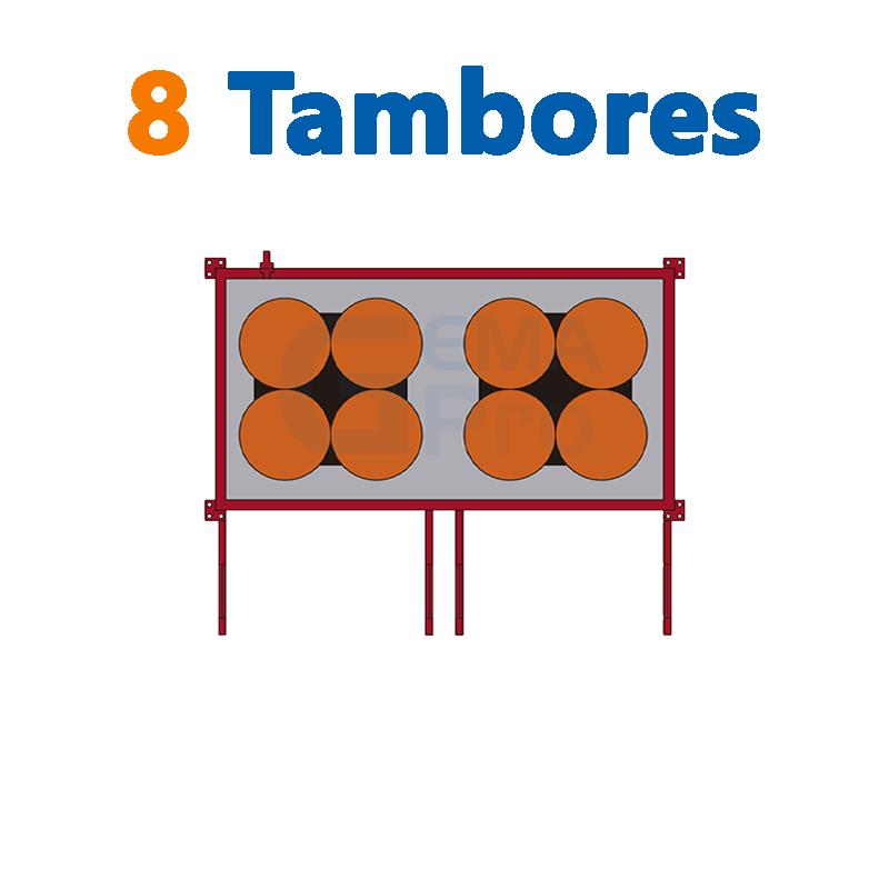 8 TAMBORES