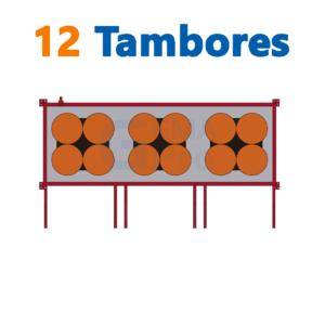 bodega de residuos y sustancias peligrosas Gemapro 12 tambores