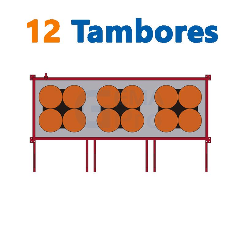 12 TAMBORES