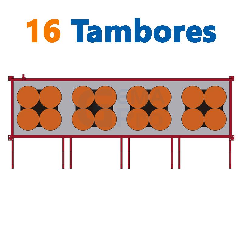 16 TAMBORES
