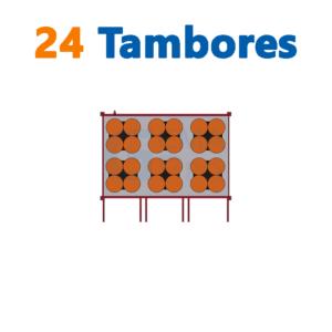bodega de residuos y sustancias peligrosas Gemapro 24 tambores