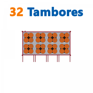 bodega de residuos y sustancias peligrosas Gemapro 32 tambores