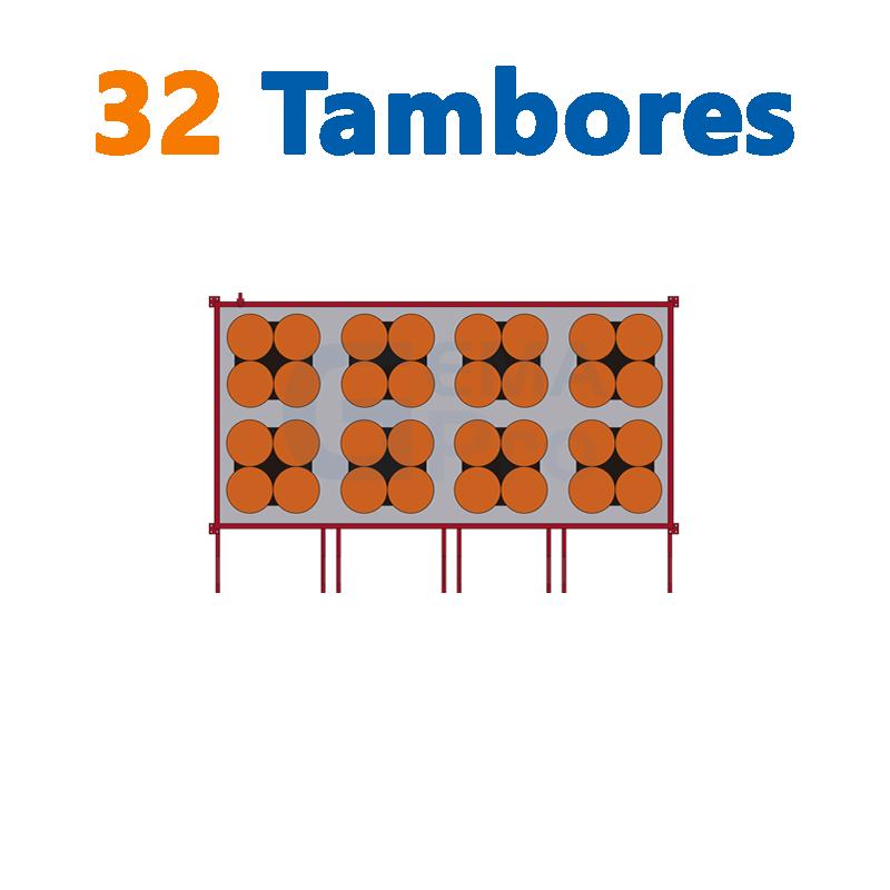 32 TAMBORES