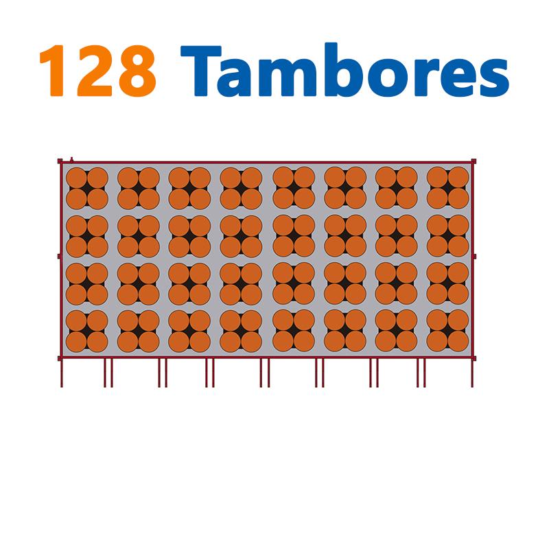 128 TAMBORES