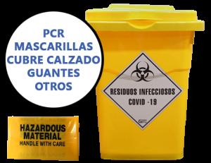 CONTENEDOR ALMACENAMIENTO RESIDUOS INFECCIOSOS COVID-19