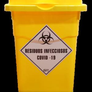 Contenedor Almacenamiento Residuos Covid-19