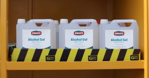 Alcohol Gel en Estantería Gemapro