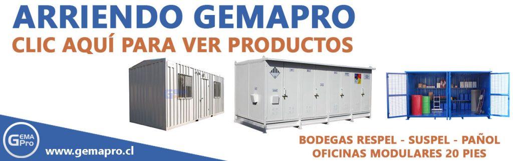 Arriendo de bodegas de residuos peligrosos sustancias peligrosas y oficinas modulares Gemapro