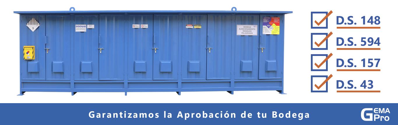 Bodega de Residuos Peligrosos y Bodega de Sustancias Peligrosas Gemapro 2021